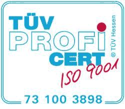 TÜV Profi CERT ISO 9001
